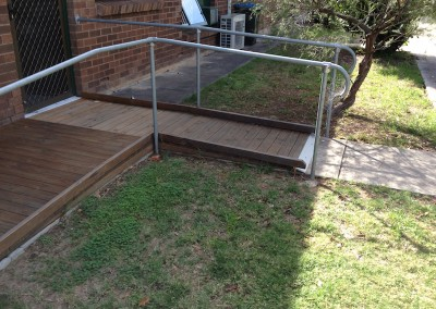 timber ramp balustrading