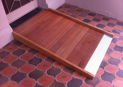 Hardwood ramp