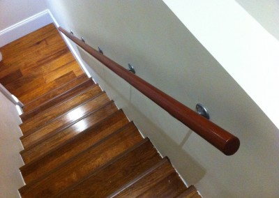 Hardwood stair rail